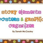 Story Elements Posters and Graphic Organizer (Dots on Chocolate)