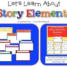 Story Map SmartBoard Lesson (Basic Story Elements) for pri