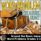 Story Problem Around-the-Room Treasure Hunt