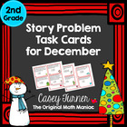 Story Problem Task Cards for December