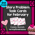 Story Problem Task Cards for February