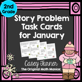 Story Problem Task Cards / Journal Prompts for January