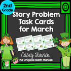 Story Problem Task Cards/ Journal Prompts for March