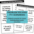 Speech Therapy Problem Solving Scenarios & Graphic Organiz