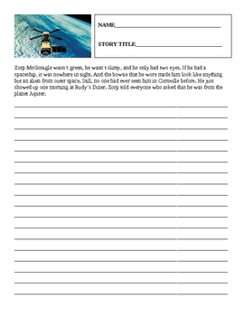 Story Starters Worksheets
