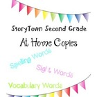 Story Town Second Grade At Home Copies Spelling, Sight, Vo