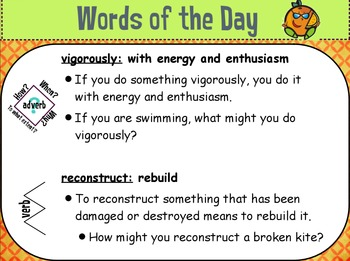 StoryTown Vocabulary: Fourth Grade Word of the Day Unit 5
