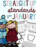Straight Up! {Standards for January Printables}
