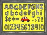 Street Alphabet Clip Art: Letters, Numbers, Punctuation an
