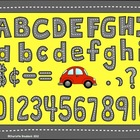 Street Alphabet Clipart: Capital and lower case with punctuation