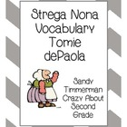 Strega Nona Vocabulary Cards