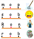 Stretchy the Word Snake cards - Short O