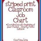 EDITABLE Striped Classroom Job Chart (Matches Smarty Pants Sets)