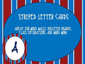 Striped Letter Cards