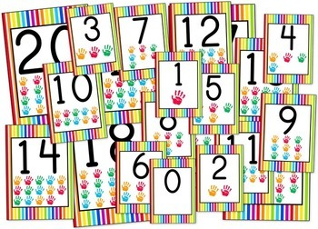Stripes & Dots Rainbow Themed Classroom Materials Pack