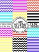 Stripes and Chevron Digital Background Paper