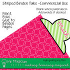 Stripey Binder Tabs Commercial Use: ColorMatch