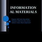 Structure of Informational Materials: Newspapers, Magazine