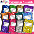 Stubby Glitter Composition Notebooks Back to School Suppli