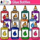 Stubby Glitter Glue Bottles Back to School Supplies Clipar