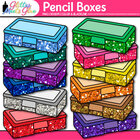 Stubby Glitter School Supply Boxes Back to School Supplies