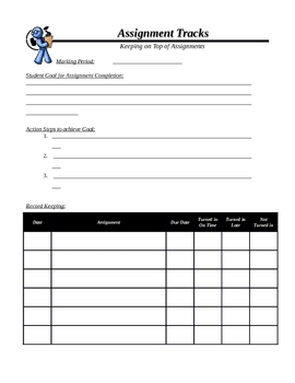 Student Assignment Tracker with Goals and Reflection