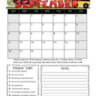 Student Behavior Calendar (Vertical) August 2014 - July 2015