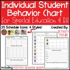 Student Behavior Chart for Special Education and RTI