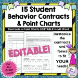 Behavior Contracts & Point Charts: Editable in Word - Impr
