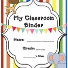Student Binder for Student with Autism