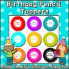 Student Birthday Gift:  Flower Pencil Toppers {English and