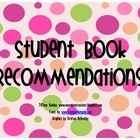 Student Book Recommendations