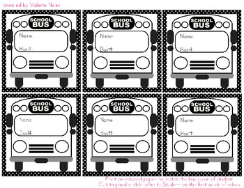 Student Bus Assignment Tags