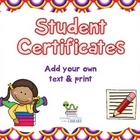 Student Certificates/Awards - Freebie