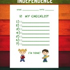 Student Checklist for Independence