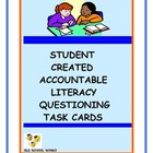Student Created Accountable Literacy Task Cards