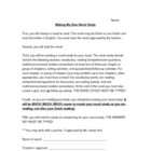 Student Created Novel Study Guide