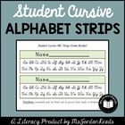 Student Cursive Alphabet Strips