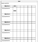 Student Daily Data Sheet-Goals and Objectives