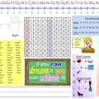 Student Desk Name Plate Resource Chart