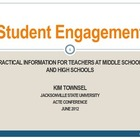 Student Engagement ~ Practical Advice for FCS Teachers