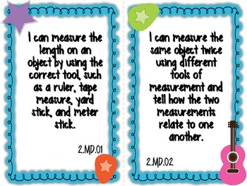 Student Friendly 2nd Grade Common Core Standards *ROCKSTAR* Theme