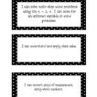 Student Friendly 4th Grade Math Common Core Labels