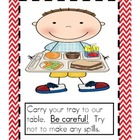 Student Friendly CAFETERIA Book: How to Eat in the Cafeteria Book