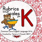 Student Friendly Scale &amp; Rubric for ELA Kindergarten (Comm