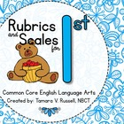 Student Friendly Scale &amp; Rubric for First Grade ELA (Commo