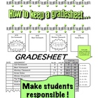 Student Grade sheet &amp; How to keep a Grade sheet