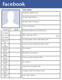 Student Info Beginning of Year Social Media Printable