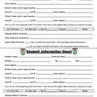 Student Information and Emergency Contact Card