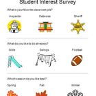 Student Interest Survey By Ms. Delveaux